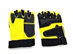 Other Fitness Half Finger Gloves, Yellow - B18-2