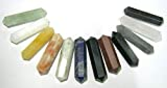 CRYSTALMIRACLE Crystal Miracle Powerful Set of Ten Double TERMINATED Points Crystal Healing Men Women Gift Reiki FENG Shui Health Wealth Meditation Peace Prosperity Spiritual Metaphysical Gemstone Calm