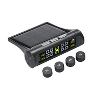 KKmoon Solar TPMS Wireless Car Tire Pressure Monitoring System with 4 External Sensors