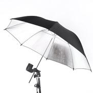 BAGGRA 83cm 33in Studio Photo Strobe Flash Light Reflector Black Silver Umbrella