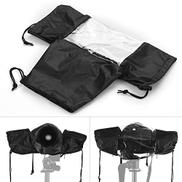 Honorall Standard Camera Waterproof Rain Cover Sleeve Protector Raincoat for Canon Nikon Sony DSLR Cameras Black