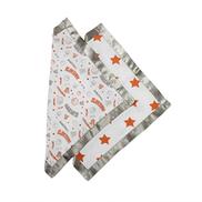 Bacati Muslin 2 Piece Security Blankets, Basketball Orange Grey