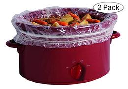 بطانات بطيء الطبخ من بانسيفر مع شريط محكم مناسب عدد 4 قطع تناسب 3.8 لتر إلى 17.7 سم قطعتان في العبوة