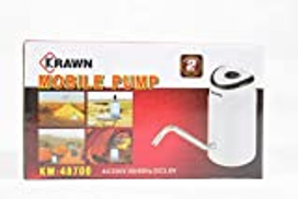 KRAWN Electric Water Dispenser Portable Gallon Drinking Bottle Switch USB Charging Water Pump Water Treatment Appliances