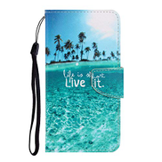 EnjoyCase Galaxy S20 FE Wallet Case,Sea Pattern Flip Folio Stand Cover Shell Bookstyle Skin Bumper with Magnetic Closure Card Slots for Samsung Galaxy S20 FE