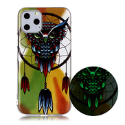 Mylne Luminous Effect Back Case Cover for iPhone 12,Noctilucent Glow in the Dark Green Soft Slim TPU Gel Flexible Bumper,Chimes Owl