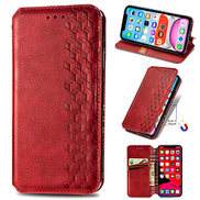 Mylne iPhone 12 Mini Fashion Wallet Case,Retro PU Leather Book Flip Cover Protective Shockproof Bumper with Magnetic Card Slots Stand Function,Red
