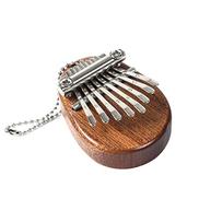 Honelife 8 Key Kalimba Mini Portable Thumb Piano Finger Percussion Keyboard Pocket Musical Instrument Christmas Present Pendant