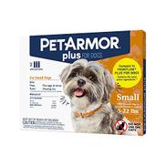 PETARMOR Plus للكلاب لمنع البراغيث والقراد للكلاب ، علاج موضعي طويل الأمد وسريع المفعول للكلاب برغوث الكلاب ، 3 قطع ، صغير