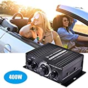 Mainstayae 400W DC12V BT Amplifier HiFi Car Stereo Music Receiver FM MP3 Power-Amplifier