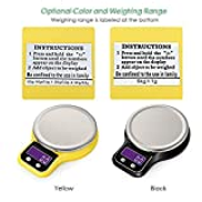 Decdeal Kitchen Scale Food Scale Mini Electronic Platform Scale Digital Scale with Stainless Steel Platform Scale