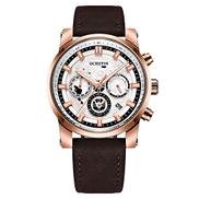 Lixada Business Men Watch Leather Strap Quartz Sport Wristwatch Calendar Fashion Casual Male Luminous Watches
