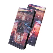 EnjoyCase for Xiaomi Redmi Note 9 Wallet Case,Colorful Painted Cool Lion Design Pu Leather Magnetic Closure Card Storage Wrist Strap Wallet Flip Stand Function Case Cover