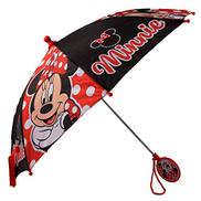 مظلة Rainwear ذات الطابع المتنوع الصغير من Disney للفتيات ، أحمر ، لعمر 3-6 سنوات