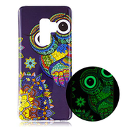 Mylne Luminous Effect Back Case Cover for Samsung Galaxy S9,Noctilucent Glow in the Dark Green Soft Slim TPU Gel Flexible Bumper,Blue Owl