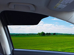 TuckVisor Blackout Windshield Sunshade Car Sun Window Shade Visor Shades Sunshade Visors Extender 1 Pack