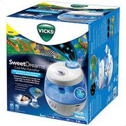 Vicks - E1 Cool Mist Mini Ultrasonic Humidifier Blue