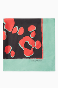 Emporio Armani CELEBRATING YOU Abstract Print Mulberry Silk Headscarf