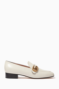 Gucci NEW SEASON Marmont GG Loafers in Leather