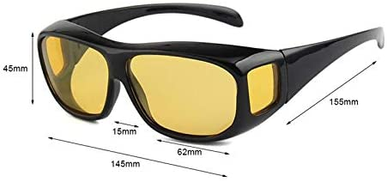 Generic Hd Vision Sunglasses Over Wrap Arounds Sun Glasses Hq Driver Safety Glasses Night Driving Goggles Anti Glare Eyeglasses
