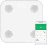 مقياس تكوين الجسم Xiaomi mi ، أحدث مقياس ذكي للدهون الذكية مع 10 نقاط بيانات دقيقة ، يدعم التحكم عن بعد للتطبيق 16 بيانات الأشخاص - أبيض