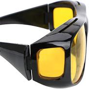 Generic Anti-Uv Night Vision Glasses Outdoor Fishing Eyewear Unisex Multifunction Hd Vision Wrap Around Sunglasses Polarized Glasses:Yellow