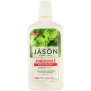Jason Natural، Powersmile ، غسول الفم المشرق ، النعناع ، 16 أونصة سائلة 473 مل