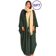Seniorah Fashion Al Amira Ramadan Green Bisht & Gift