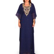 Saraya Al Najla Embellished Jalabiya - Blue