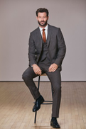 Grey Tailored Fit Puppytooth Suit
