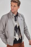 Grey Shower Resistant Harrington Jacket